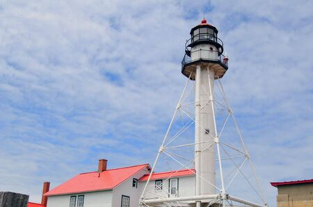 orientated: Whitefish Point Lighthouse Paradise Michigan (Landscape Orientated)