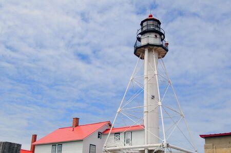 whitefish: Whitefish Point Lighthouse Paradise Michigan (Landscape Orientated)