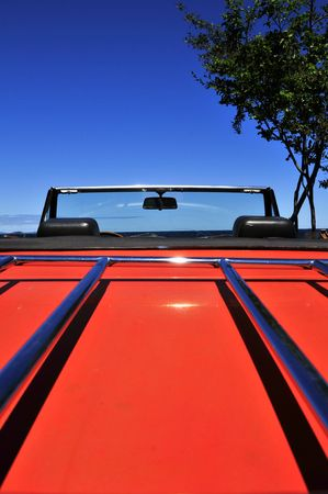 orientated: Scenic View From A Convertable Car (Portrait Orientated) Stock Photo