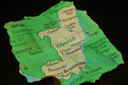 warlords: The Map Of The Congo Stock Photo