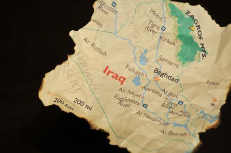 wmd: Burnt Map Of Iraq
