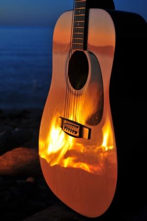 Fire Facing The Music Reklamní fotografie