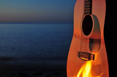 campfires: Flaming Guitar