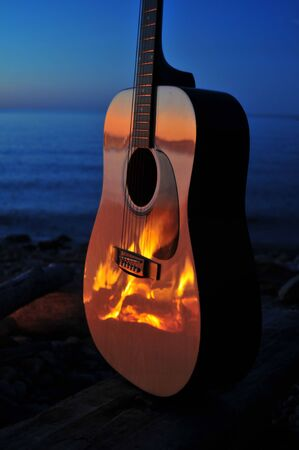 bonfire night: Fireside Guitar