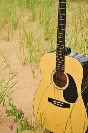 Sand Dune Guitar Banco de Imagens