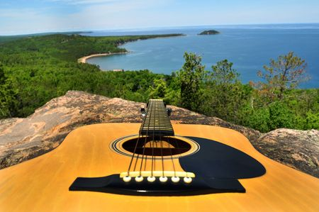 Mountain Guitar Over The Sea