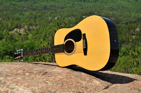Landscape Of A Guitar photo