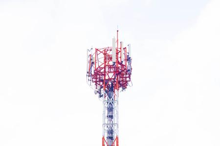 Antenna on white background