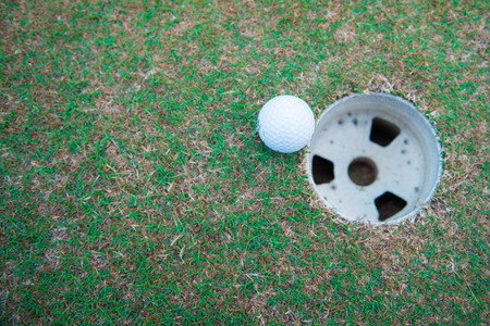 golfball: golf-ball on course for sporting clubs
