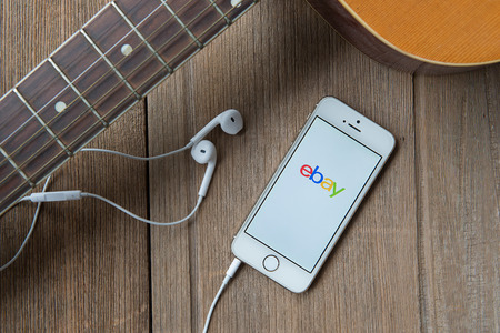 ebay: June 23, 2015:iPhone opened to Ebay homepage. Ebay, an online auction and shopping site, was founded in 1995.