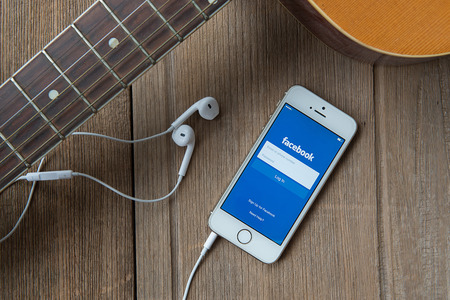 roommates: CHIANG MAI, THAILAND - June 23, 2015: Facebook is an online social networking service founded in February 2004 by Mark Zuckerberg with his college roommates and is now a fortune 500 company Editorial