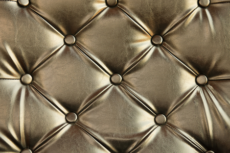 cushioning: Abstract background texture of an old natural luxury, modern style leather with rhombs. Classic white, light and dark gray grungy skin of retro wall, door, sofa or studio interior with metal buttons.