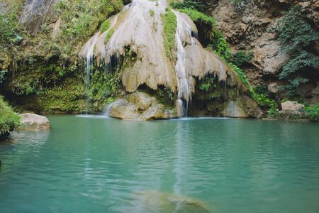 ko: Waterfall, Ko Luang Waterfall beautiful Lamphun, Thailand.