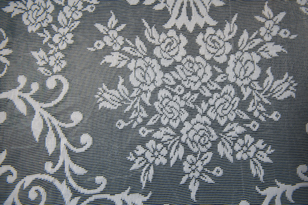 ornamentations: White paper with lace
