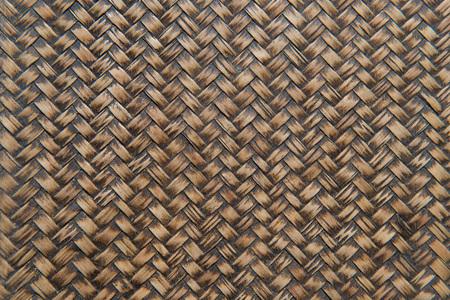 wooden basket: Wooden weave, Woven brown wicker basket pattern background texture.
