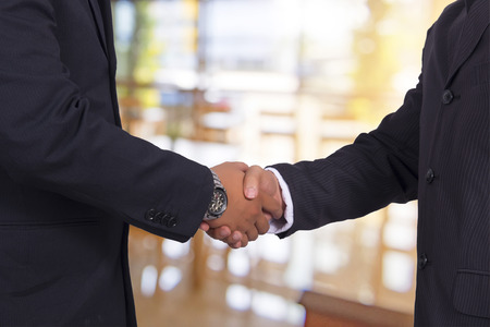Business team meeting and agree to contract. Stock Photo
