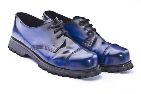 safety shoes: industrial safety shoes on a white background