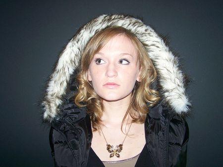 eskimo: Girl in Winter Coat