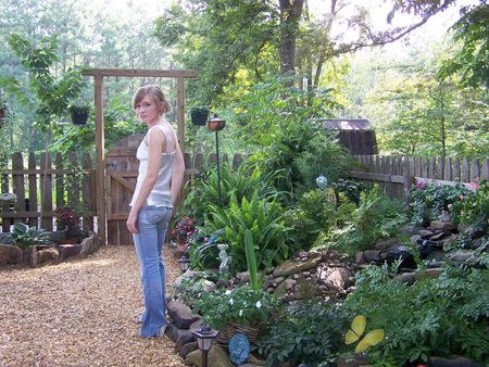 Girl in Garden photo