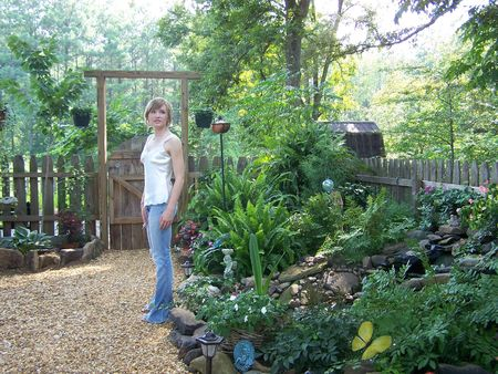 Young Woman in Beautiful Garden photo