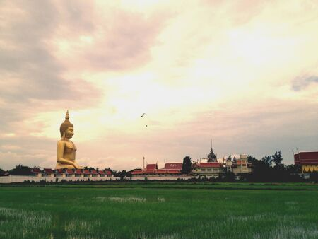 angthong: Big buddha statue at ang-thong. Thailand
