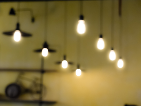 Hanging light bulbs with Blur  photo