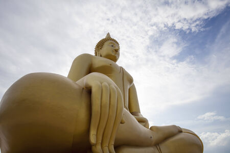 Big Buddha statue at Wat Muang Temple, Angthong, Thailand photo