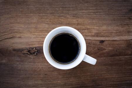 taza cafe: Caf� negro vista desde arriba