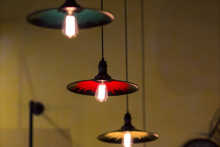 retro light bulbs decor photo