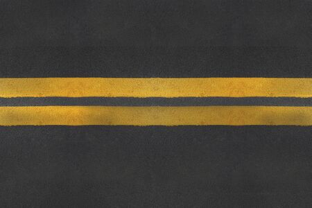 yellow line: asphalt texture with yellow  line Stock Photo