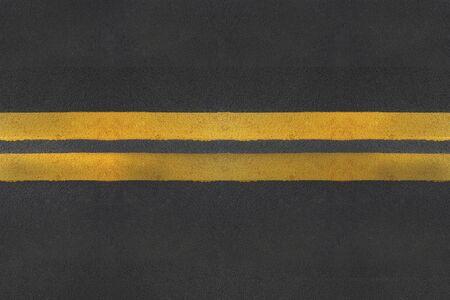 asphalt texture: asphalt texture with yellow  line Stock Photo