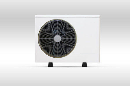 out door: Air conditioning fan coil out door unit Stock Photo