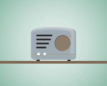 Vintage radio a retro look old style