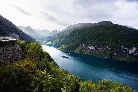 Ornesvingen viewing point, Norway. Travel destination
