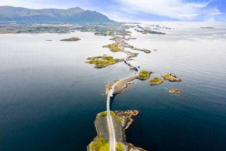tlantic Ocean Road or the Atlantic Road  Stok Fotoğraf