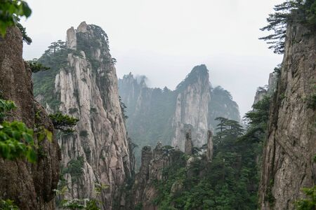 natural huangshan mountain landscape.