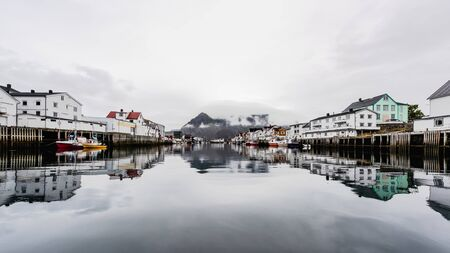 Henningsvaer is a fishing village and tourist town