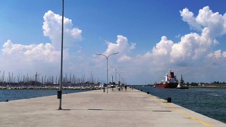 pier  in Ravenna, Italy Stock Photo
