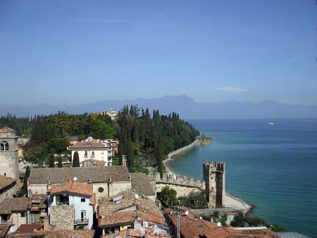 mediaval: Ancient castle Scaligero in the Sirmione