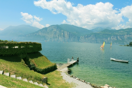 coastline lake Garda in Italy