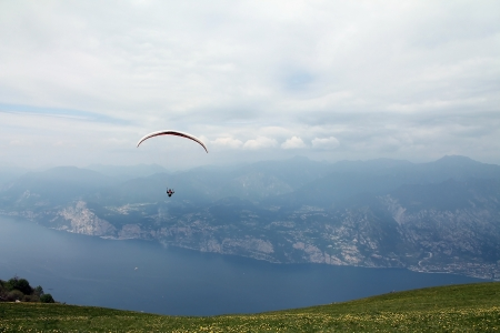 paraglider in flight photo