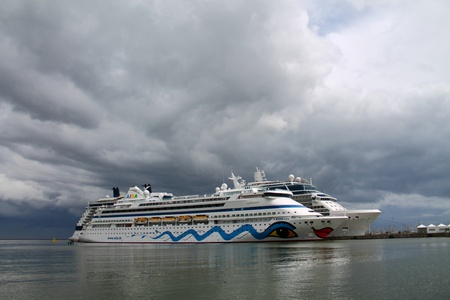 Aida cruise ship at the port of Ravenna Italy, May 25, 2013 Stock Photo - 19962414