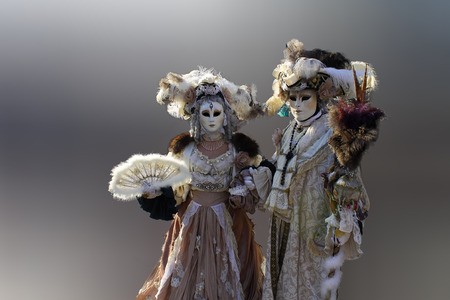 couple in carnival costume in Venice