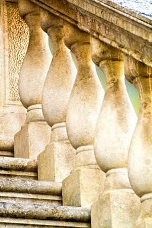 balustrade: balustrade, architectural detail closeup
