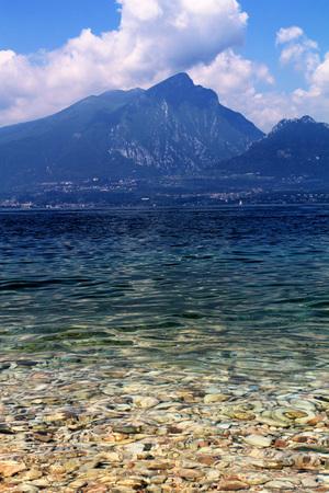 exhalation: beautiful coast of  the garda lake,  italy Stock Photo