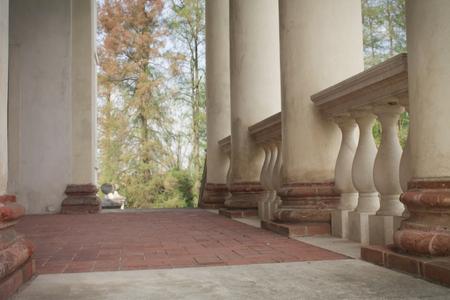 stone balustrade with column Stock Photo