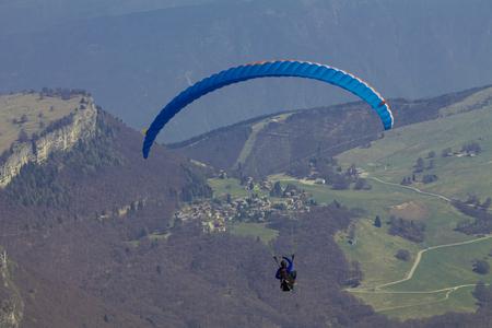 Wingsuit, Mount Baldo, Veneto Italy , Stock Photo
