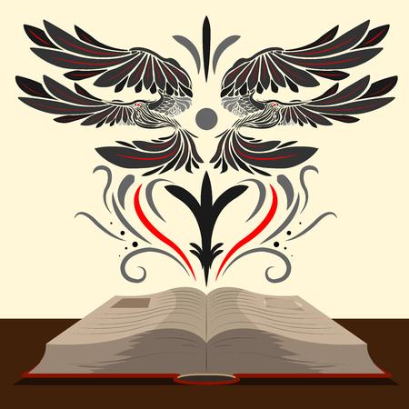Boek met vogels