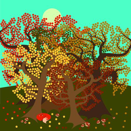 Autumn trees 版權商用圖片 - 46341385
