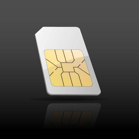sim card: Sim card background Illustration